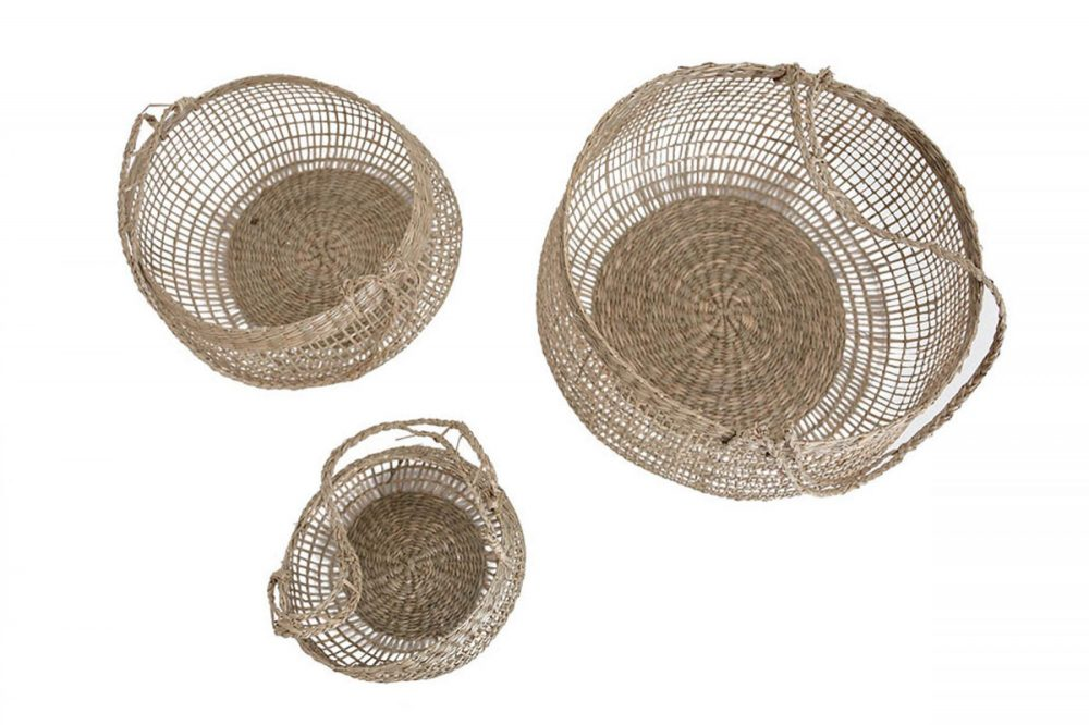Wevon basket with handle l 25x28x25/44