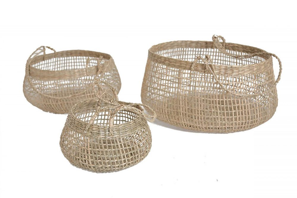 Wevon basket with handle l