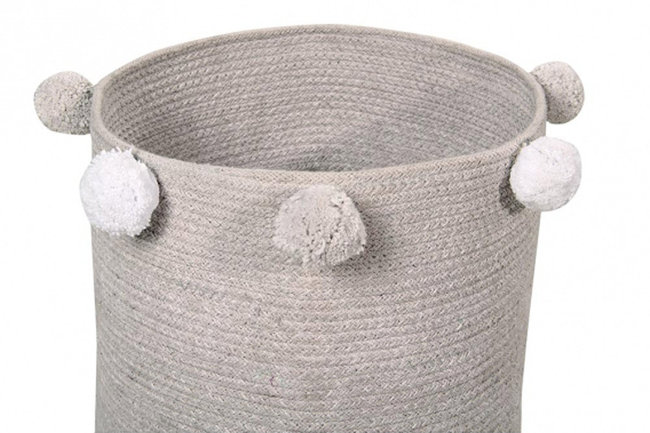 Lorena canals baby basket bubbly grey Ø30x30