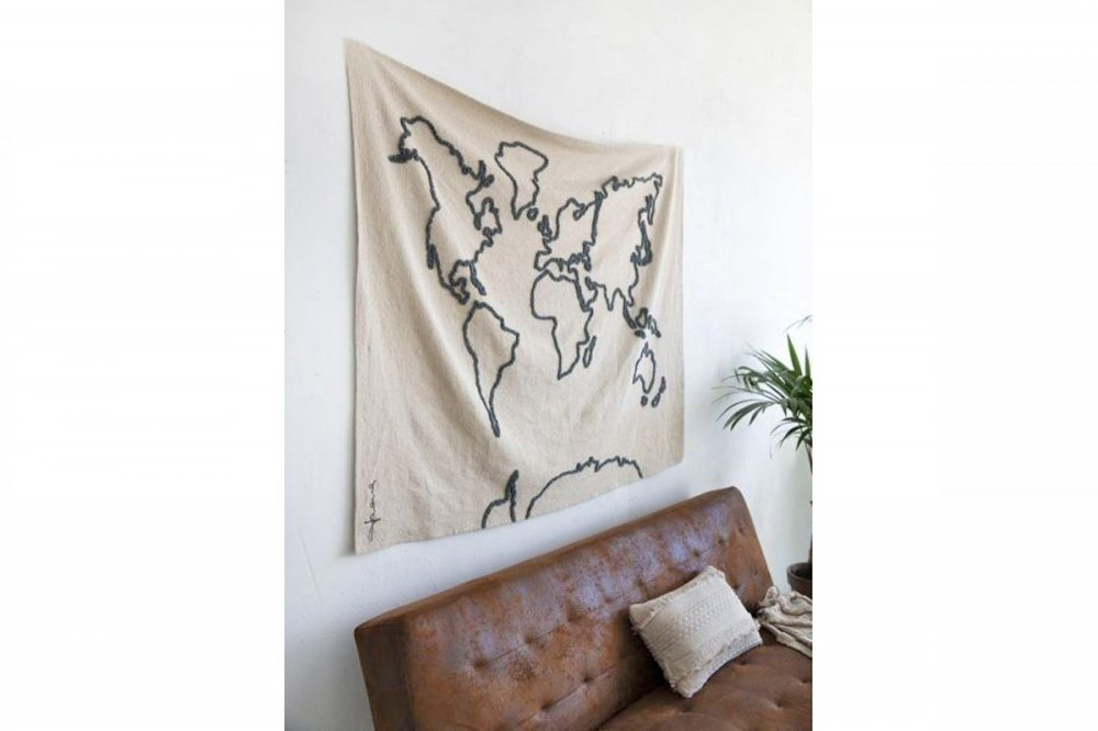 Lorena canals wall hanging canvas map