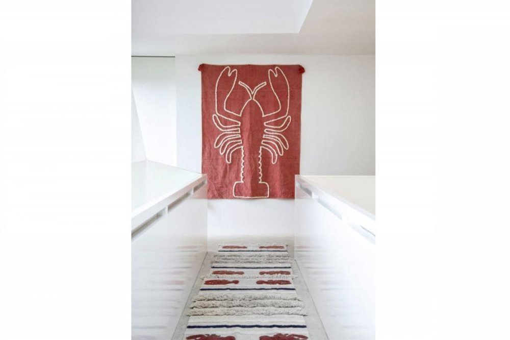 Lorena canals wall hanging giant lobster brick red