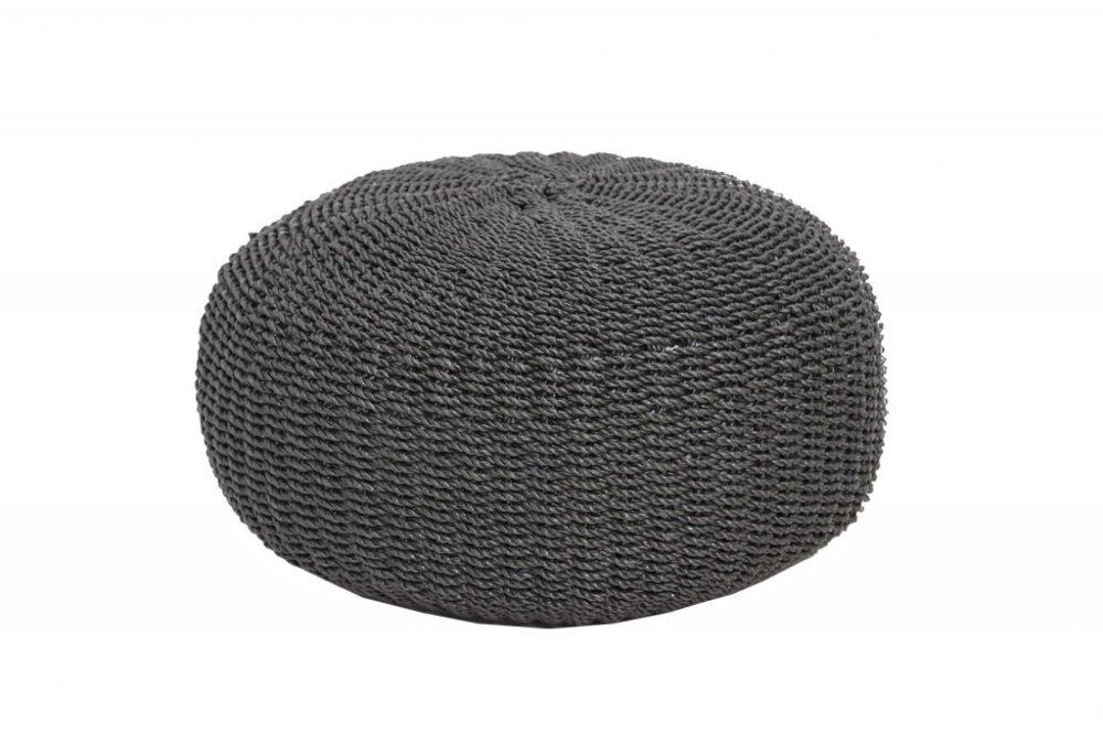 Matera black pouf