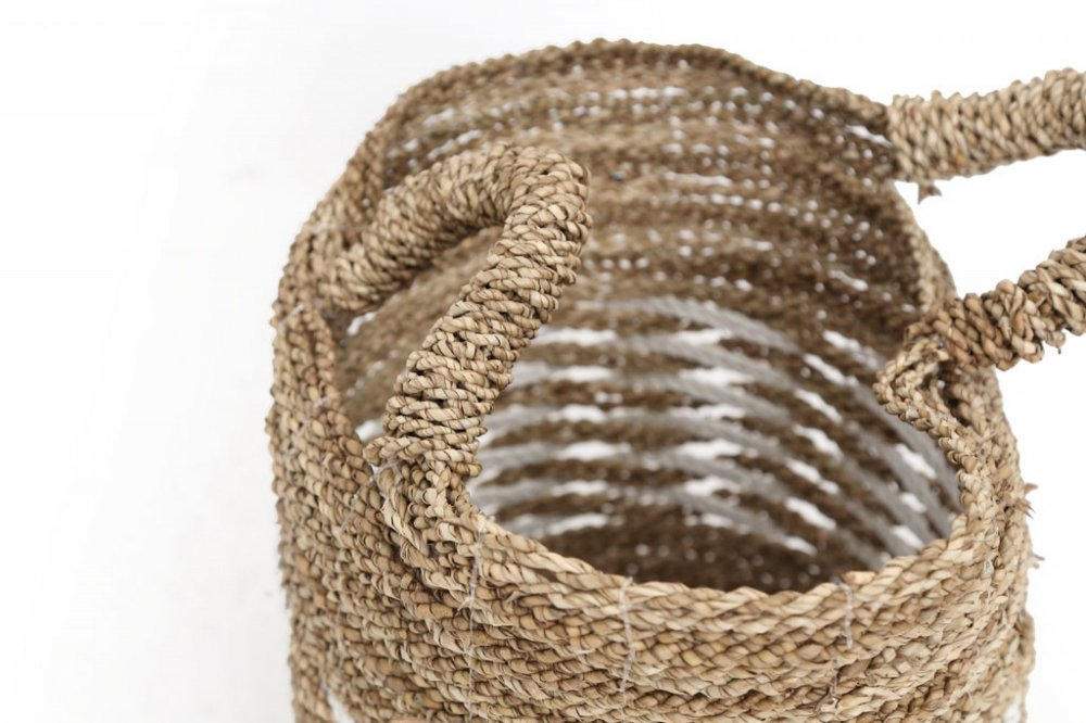 Rieta basket with handles small