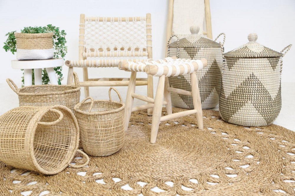 Sandycay basket with handles l Ø33x35