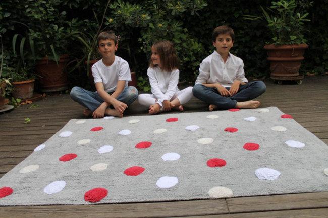 Lorena canals topos tricolor grey rojo red