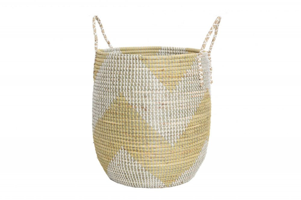 Tortilla basket yellow with cap l Ø43x65