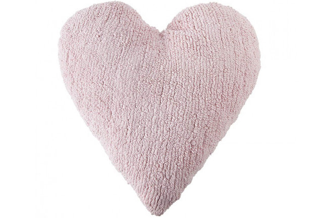 Lorena canals cushion corazon rosa