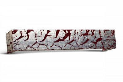 ecarpets Μετώπη ξύλινη ασημί-κόκκινο