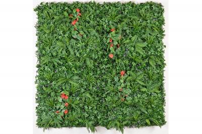 ecarpets Συνθετικό πάνελ φυλλωσιάς κισσός με κόκκινα σπαθίφυλλα 100x100