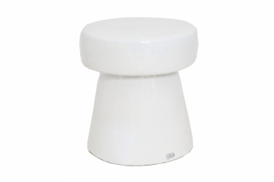 ecarpets Σκαμπό stool white glazed