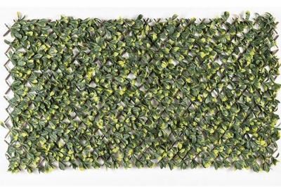 ecarpets Πτυσσόμενη συνθετική πέργκολα με φυλλωσιά 100x200