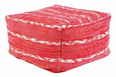 ecarpets Cotton kelim pouf 70x70x40