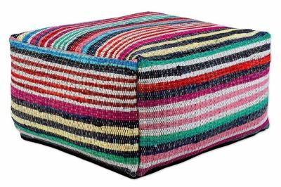 ecarpets Cotton kelim pouf