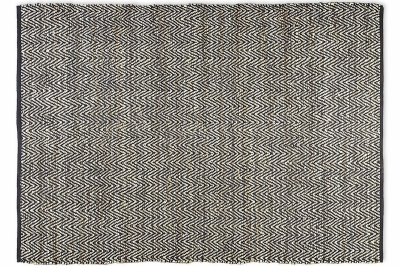 ecarpets Leather fishbone kelim