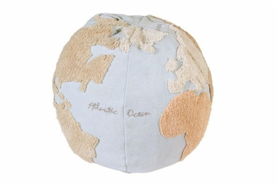 ecarpets Lorena canals cushion pouffe world map 45x50