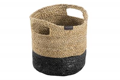 ecarpets Jute basket black 30x30