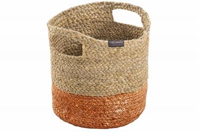 ecarpets Jute basket coral 30x30