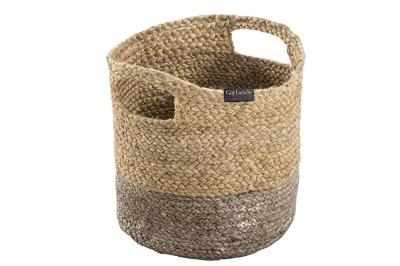 ecarpets Jute basket grey 30x30