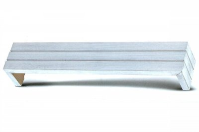 ecarpets Μετώπη αλουμινίου λευκό - ασημί