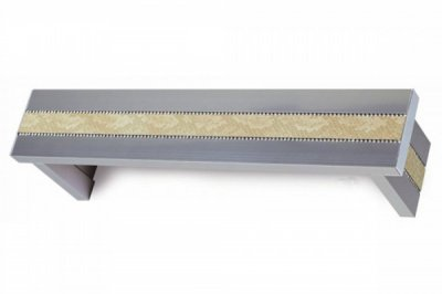 ecarpets Μετώπη νίκελ-ματ καδένα swarovski με δέρμα μπεζ κροκό