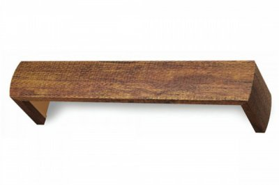 ecarpets Μετώπη ξύλινη δέρμα καφέ