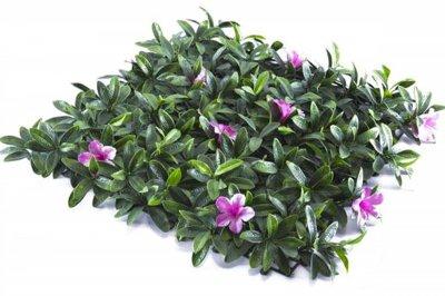 ecarpets Συνθετικό πάνελ φυλλωσιάς με ροζ λουλούδι 50x50