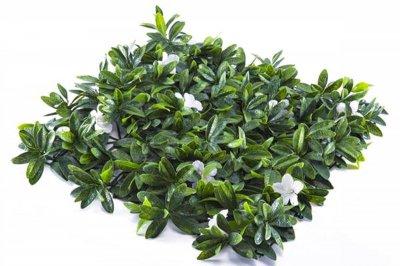 ecarpets Συνθετικό πάνελ φυλλωσιάς με λευκό λουλούδι 50x50