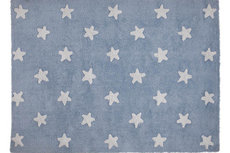 ecarpets Lorena canals blue stars white