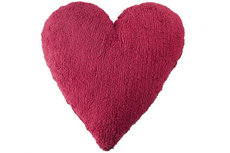 ecarpets Lorena canals cushion corazon fucsia 50x50