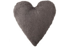 ecarpets Lorena canals cushion corazon gris oscuro