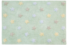 ecarpets Lorena canals tricolor stars soft mint
