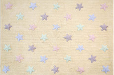 ecarpets Lorena canals tricolor stars vanilla