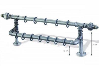 ecarpets Κουρτινόξυλο Βιομηχανικό σετ ρακόρ διπλό Φ25