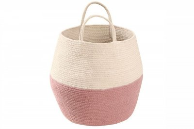ecarpets Lorena canals basket zoco ash rose-natural Ø30x35