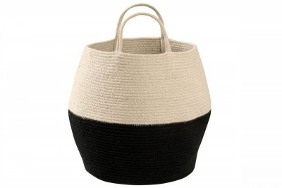 ecarpets Lorena canals basket zoco black-natural Ø30x35