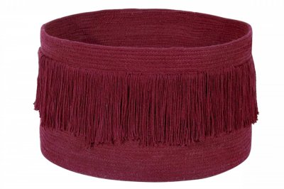 ecarpets Lorena canals basket fringes savannah red Ø45x30