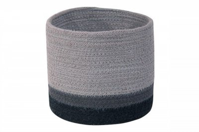ecarpets Lorena canals basket mini tricolor grey 15x15