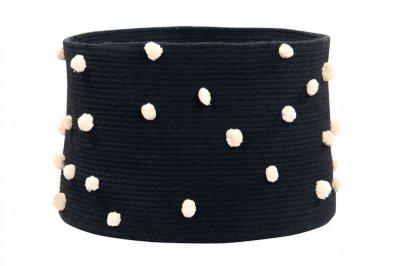ecarpets Lorena canals basket pebbles black