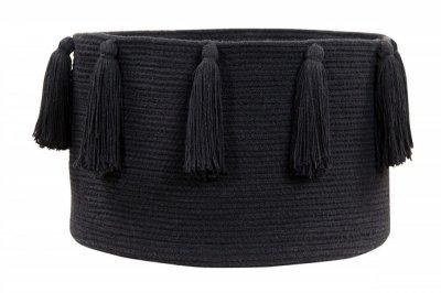 ecarpets Lorena canals basket tassels black