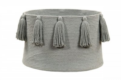 ecarpets Lorena canals basket tassels light grey