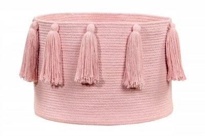 ecarpets Lorena canals basket tassels pink