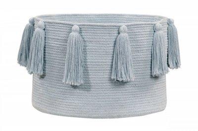 ecarpets Lorena canals basket tassels soft blue