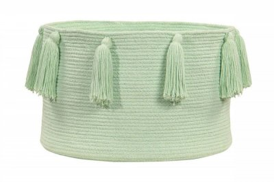 ecarpets Lorena canals basket tassels soft mint