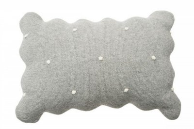 ecarpets Lorena canals cushion biscuit grey 25x35