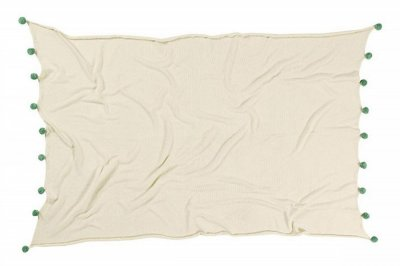 ecarpets Lorena canals blanket bubbly natural green