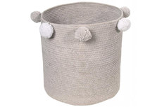 Lorena canals baby basket bubbly grey