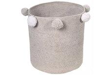 ecarpets Lorena canals baby basket bubbly grey Ø30x30