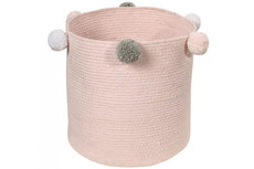 Lorena canals baby basket bubbly pink
