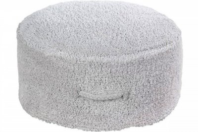 ecarpets Lorena canals cushion pouffe chill pearl grey