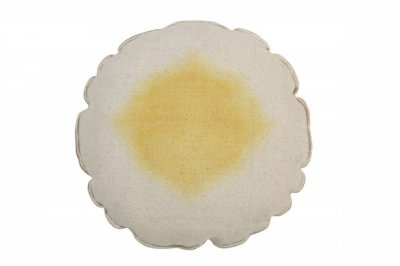 ecarpets Lorena canals cushion tie dye yellow 40x40